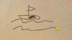 Sand draw app voorbeeld