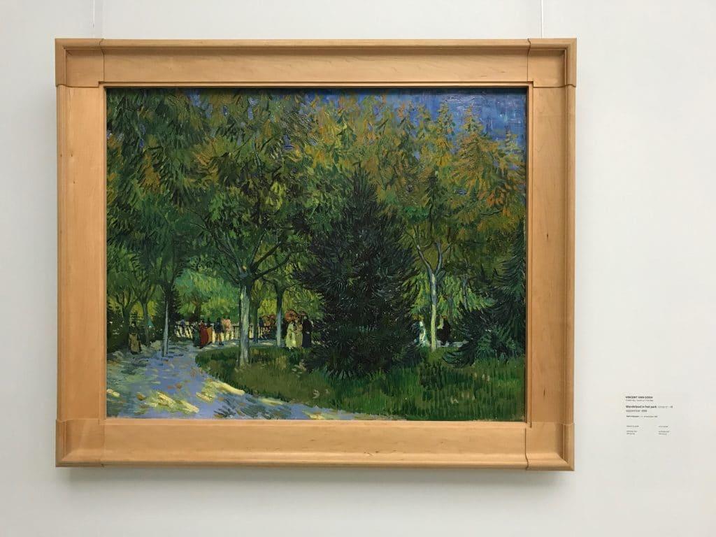 Vincent van Gogh Wandelpad in het park