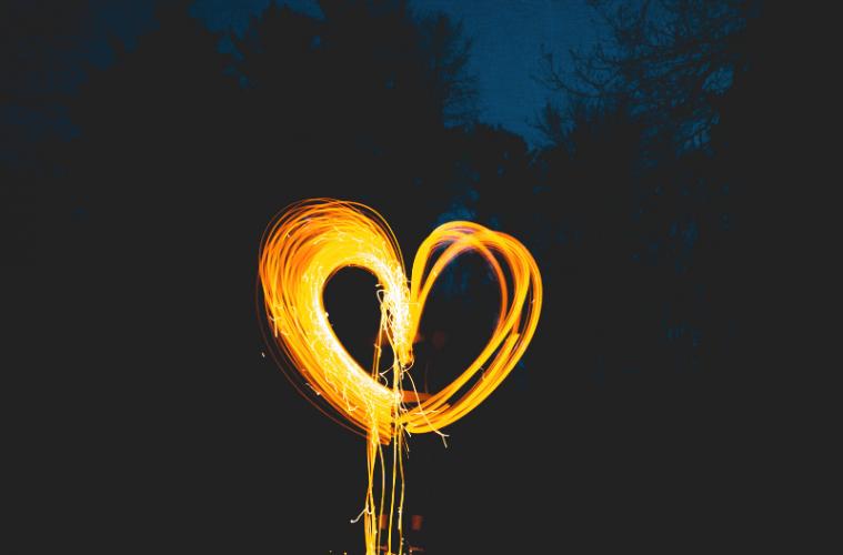 Light painting hart