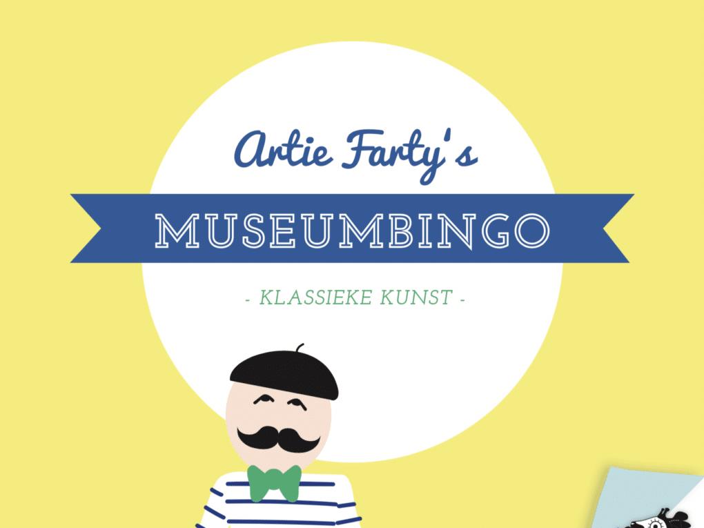 Museumbingo klassieke kunst Artie Farty museumspel