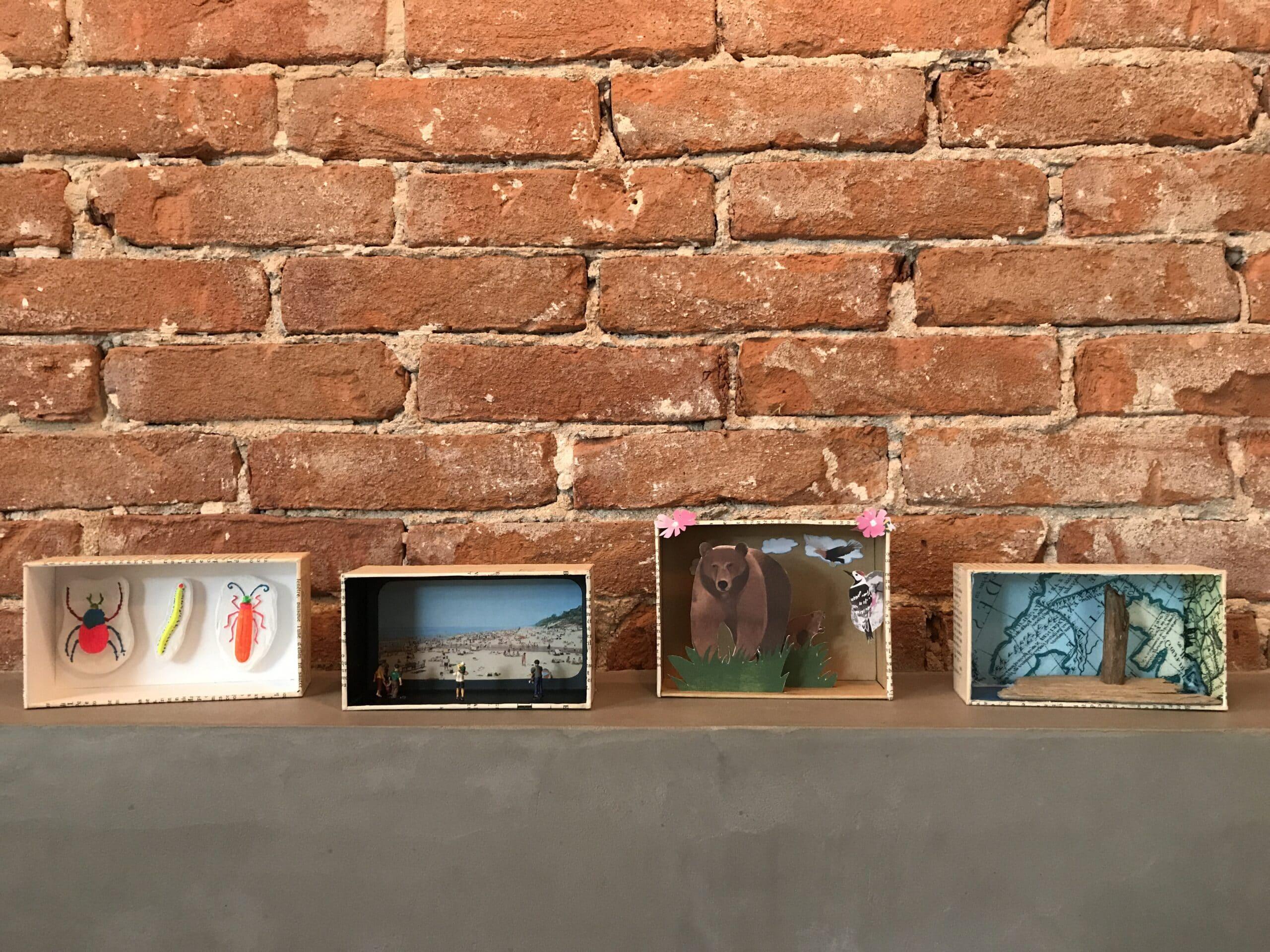 Diorama van een iPhone doosje serie